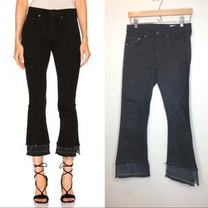 rag & bone coal double flare jeans size 27
